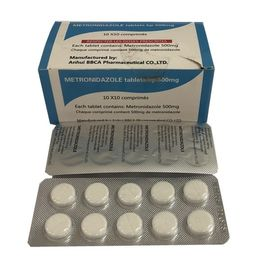 China Medical Grade Pharmaceutical Tablets Metronidazole Tablets 250MG / 500MG factory