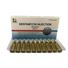 China Medical Grade Small Volume Injection Gentamycin / Gentamicin Injection 80mg 2ml factory
