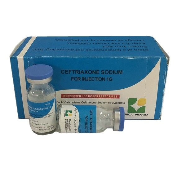 Medical Ceftriaxone Sodium Powder For Injection 1G White Powder With GMP supplier
