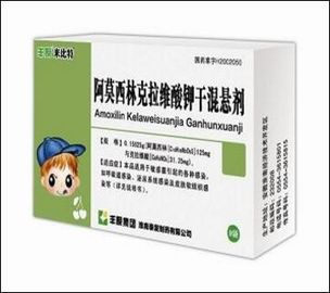 China Pharmaceutical Preparation Amoxycillin & Potassium Clavulanate BBCA Medicine Grade distributor